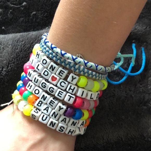 Jewelry Personalized Rave Word Candy Bracelets Bundle